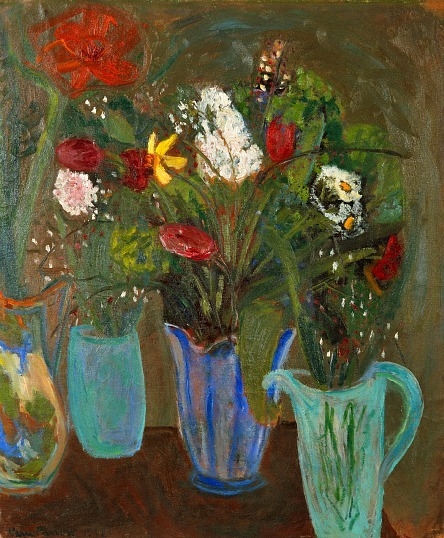 stilllifequickheart:  Karin Parrow Still Life with Flowers 1941