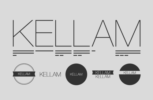 These are some logos that I recently made for a band named Kellam in northern Indiana.