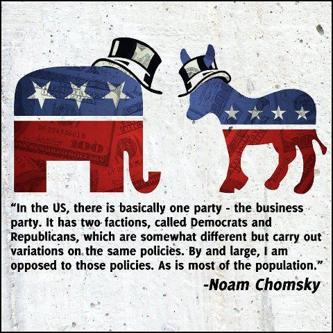 Chomsky on the only American political party: The Business Party