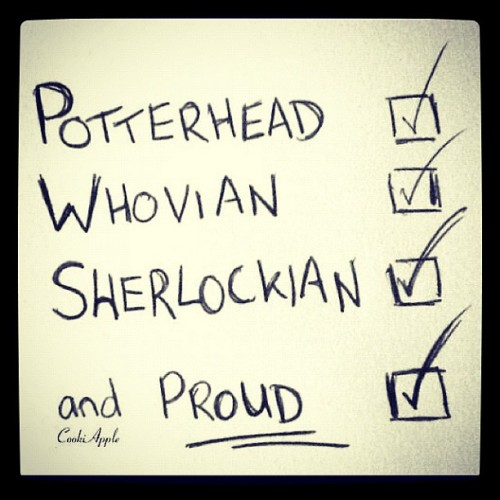 My recent life in a nutshell #potterhead #whovian #sherlockian (Taken with Instagram)