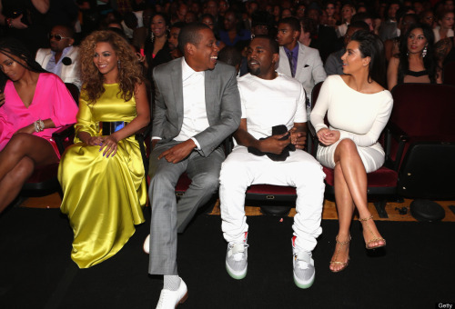 Beyonce, JayZ, Kanye West, Kim Kardashian, BET Awards 2012