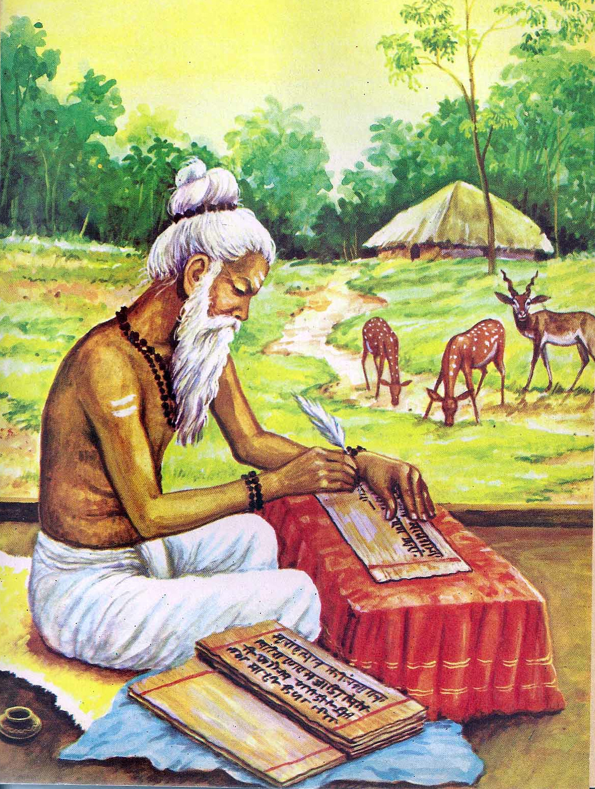 mrhypnotic:  The Indian sage, Valmiki, composing the Ramayana~