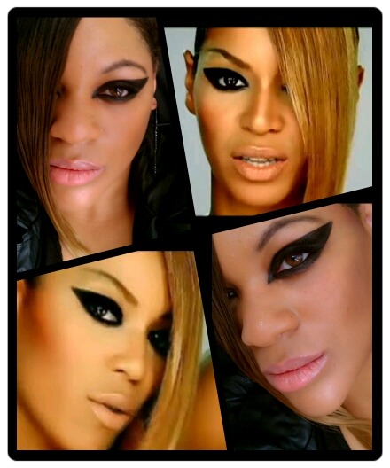 Part 3 of my Beyonce inspired makeup series: Beyonce 'Video Phone' inspired makeup.   http://themakeupbender.tumblr.com