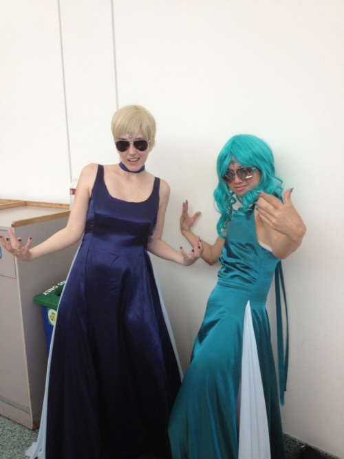 Sailor Uranus and Sailor Neptune thug LYFE. Anime Expo 2012