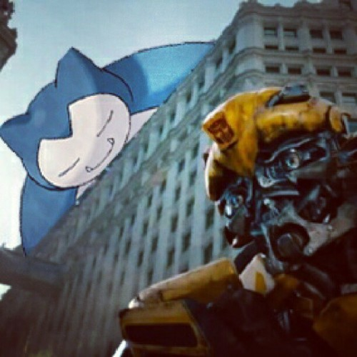 Snorlax you blocking Bumblebee's way!
