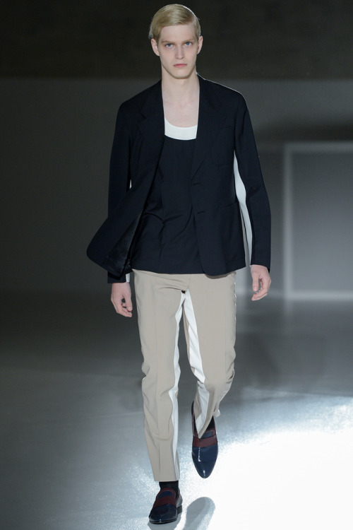 Prada Menswear Spring/Summer 2013 Milan Model: Carlos Peters