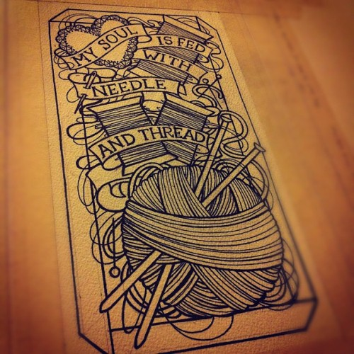 littlejennsmall:  #littlejennsmall #needlework #tattoo ideas come far too late these days… (Taken with Instagram)