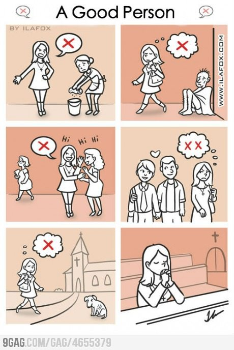 9gag:  A Good Person…