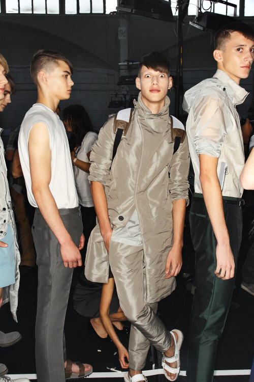 hommemodel-s:  Lanvin SS13 MEN Fashion Show Paris Backstage.