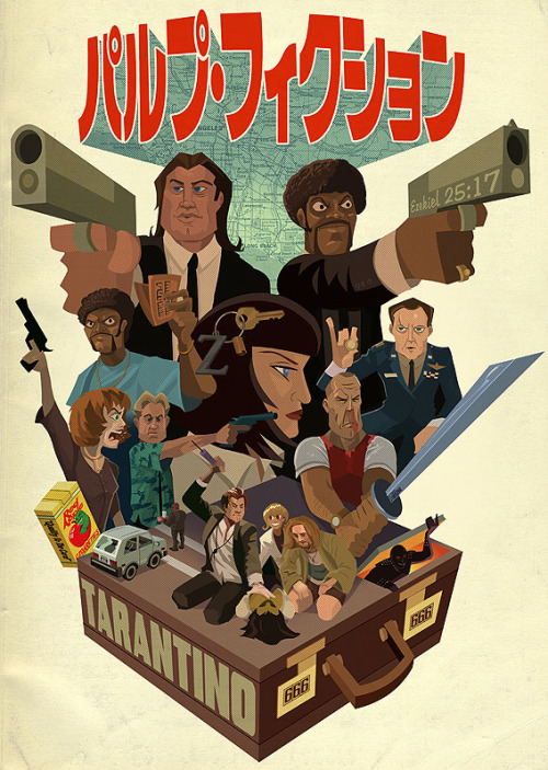 herochan:  Pulp Fiction  Created by Justin Orr | Blog (via:xombiedirge)