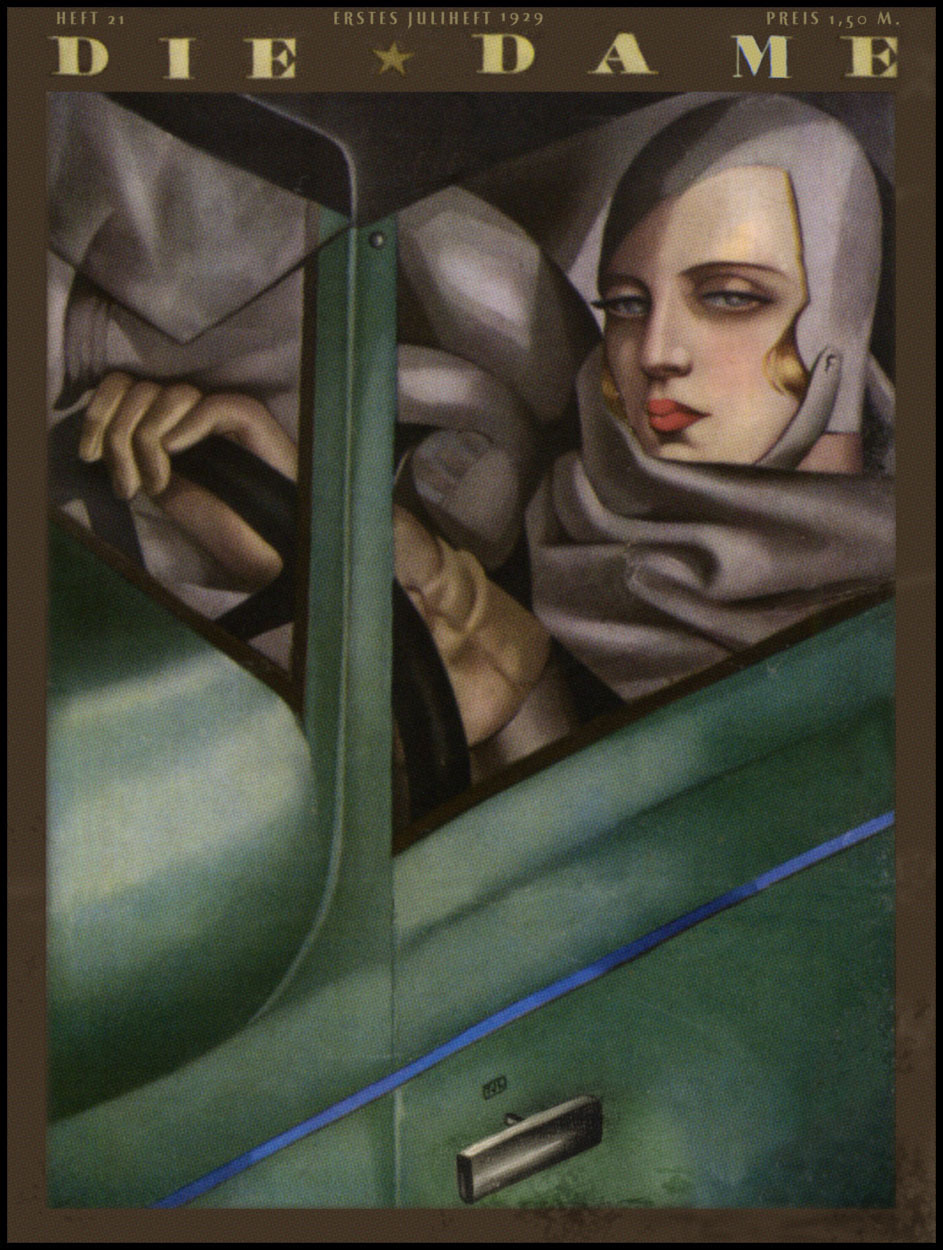 mirrormaskcamera:  Tamara de Lempicka — Die Dame — July 1, 1929 (via The Pictorial Arts: Cool and Confident)  Tamara de Lempicka was an iconic painter of the jazz age, and this is an iconic self-portrait of her as the cool and confident woman of the times.