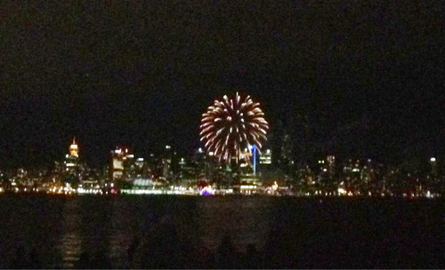 Watched the fireworks from North Vancouver today! It wasn't very good but oh well, fireworks are fireworks :)