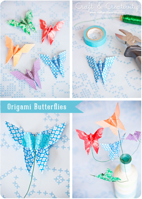 craftandcreativity:  Origami butterflies, by Craft & Creativity