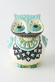 How cute is this owl cookie jar from Anthropologie?! For $68.00, he'll guard all your tasty treats. His hand-painted detail and colorful charm are sure to catch an eye of anyone in your home. Get yours here.