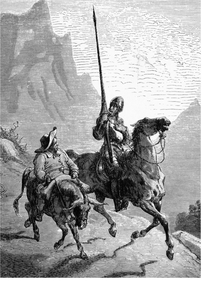 petapeta:  ファイル:Don Quijote and Sancho Panza.jpg - Wikipedia
