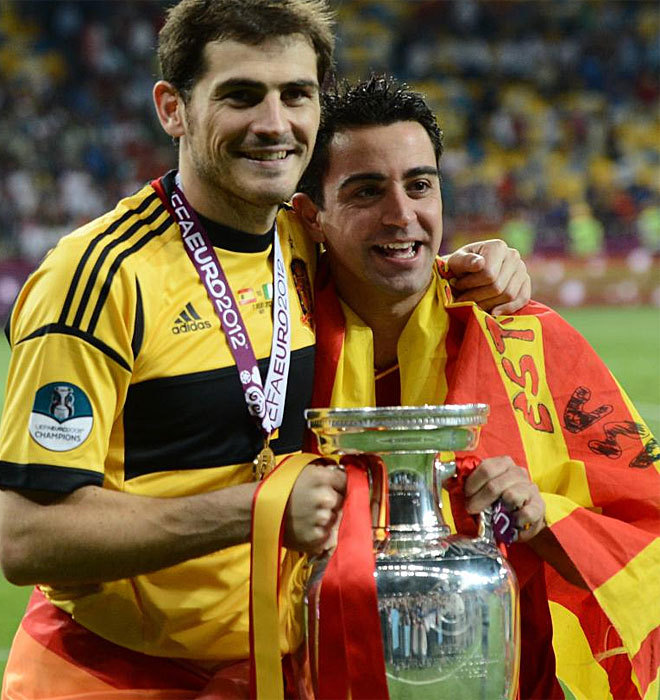 Casillas and Xavi