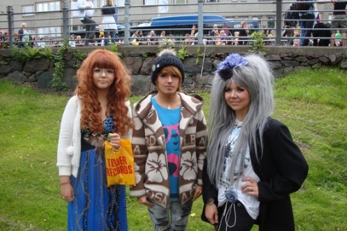Sini, Riku and me at Helsinki pride! x