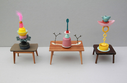 marineboutron:  tiny table-sculptures by virginhoney on Flickr.