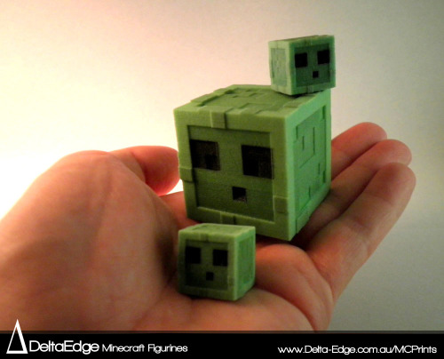 Minecraft Slime 3D figurines :D