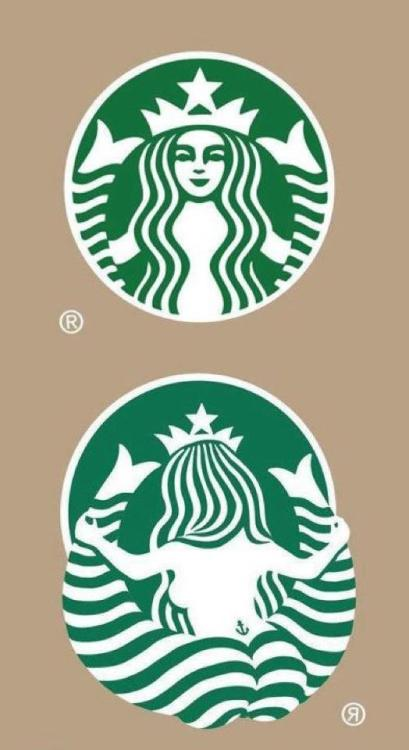 helloyoucreatives:  Starbucks from behind.   The other side of the Starbucks logo.