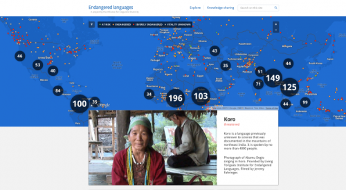 "PICTURED ABOVE: A screenshot of the EndangeredLanguages.com homepage displays a map of disappearing languages around the world.   Native group helps Google preserve endangered languages  The First Peoples' Cultural Council, a first nations-run Crown corporation based on Vancouver Island, has been chosen to oversee a project developed by Google that seeks to preserve endangered indigenous languages. The Google Endangered Languages Project, launched June 21 to coincide with National Aboriginal Day, invites language experts from around the world to post videos, audio clips, books and other publications on its website to catalogue languages that are in danger of becoming extinct. ""A lot of the ideas have been driven by First Peoples' commitment to ensuring that the communities themselves are the voice for their own languages,"" says Lorna Williams, chair of the First Peoples' Cultural Council (FPCC). ""There's an opportunity for [communities] to present their language in a way that is true to them.""  (click-through for full story)"