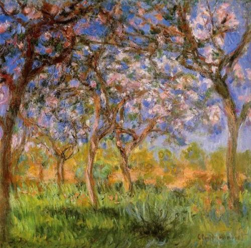 "Giverny in Springtime, 1900, Private collection Claude Monet . ""I am not a great painter, great poet. I just know that I do what I can to express what I feel in front of nature."" .  Claude Monet, photo: Granger"