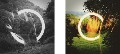 danmountford:  Trying new directions out. Two double exposure photographs that were created inside a camera & the colours were then altered in photoshop.