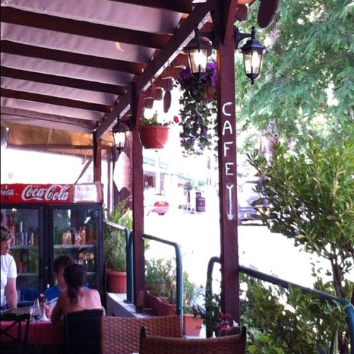 Stopped for a coffee in Platres (Taken with Instagram)