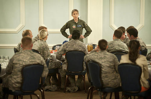 "Women in combat: De facto warriors in Afghanistan and Iraq, women are now closer than ever to the ""profession of combat arms."" The US military is opening jobs to them closer to the battlefield, and they are pushing to abolish job limits through legal battles. READ: Women in combat: US military on verge of making it official PHOTO: Col. Jeannie Leavitt, Commander of the 4th Fighter Wing at Seymour Johnson Air Force Base in Goldsboro, N.C. is the first female jet fighter pilot in US history and first woman to command a fighter wing squadron. Military women largely have been unable to serve in such high commands because, barred from combat, they have been unable to get the experience they need to advance. (James Robinson/Special to the Christian Science Monitor)"