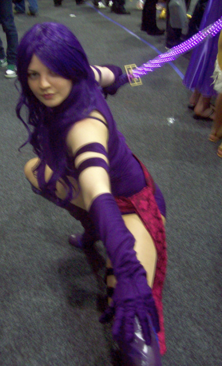 Psylocke (by brent-keane) I realize it's slightly blurry, but hey, she is a ninja…