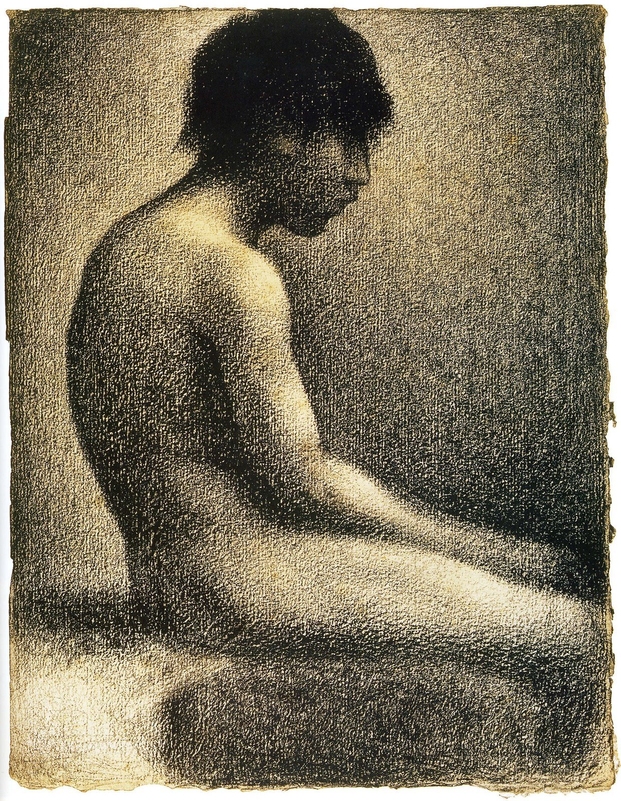 Georges Seurat - study for Bathers at Asnières, 1884.