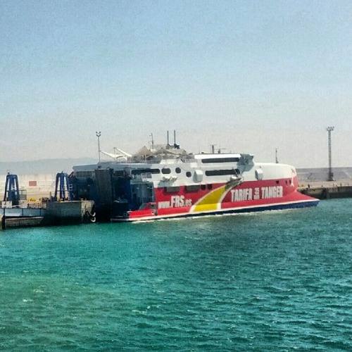 Taking the ferry from Tarifa to Tangiers — only 35 minutes!