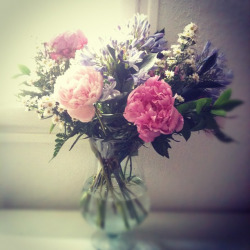 A fabulous bouquet I got yesterday for my birthday. This ons is from my mum, she knows me so well.. Favorite flowers mixed with gorgeous other ones.. In a current favorite shade of colors. I feel so blessed right now for what I have in life  by The Nebulous Kingdom of Anne-Julie on Flickr.