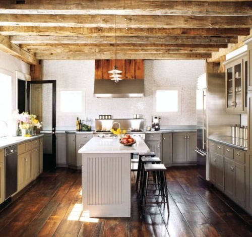 modern barn kitchen