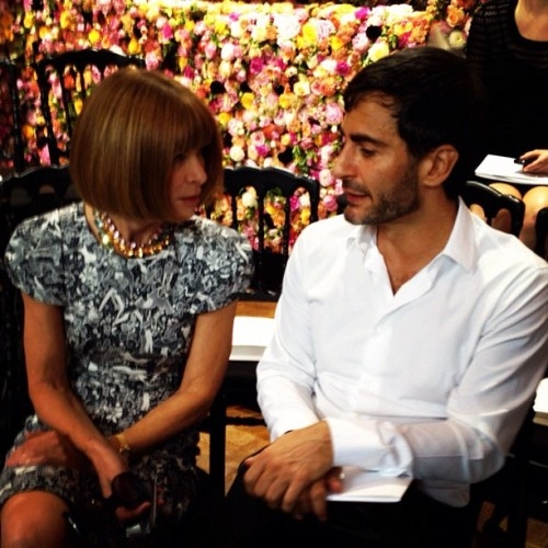 Anna Wintour chats to Marc Jacobs @Dior  (Taken with Instagram)