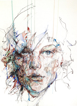 carnegriffiths:  Order from Chaos - Ink and tea on watercolour paper,Exhibition at Ink'd Gallery from 6th September 2012