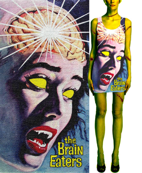 Brain Eaters Dress http://www.etsy.com/shop/Deathany97?section_id=11081882 I still have a few left. I can do custom sizes. Also see horror tank tops I have. Get ready for those Halloween parties coming up!!!!