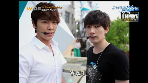 Mnet 20's Choice Behind 슈퍼주니어 caps -EunHae-