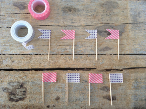 Washi Tape Flags via Food & Feminity