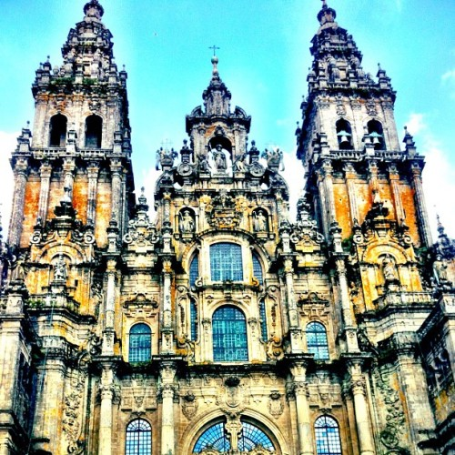 #camino #spain #santiago #churches #cathedral  (Taken with Instagram)