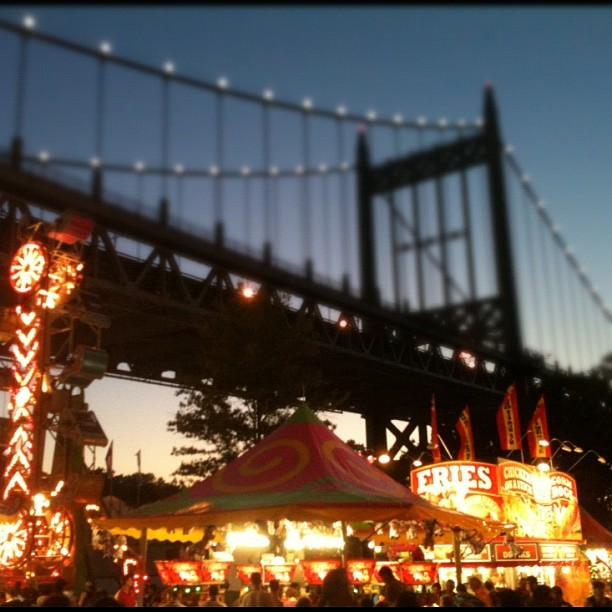 carnival under the bridge (Taken with Instagram at Astoria Park)