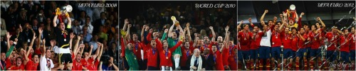 Viva Espana! 4 years, 2 euro cups, 1 world cup! Iker Casillas lifting all of them! The greatest international football team! Viva Espana!