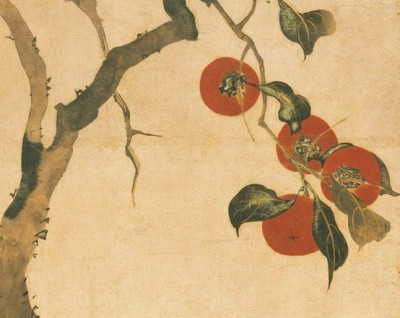 wasbella102:  Persimmon Tree, Edo period, late autumn 1816: Sakai Hoitsu (Japanese)
