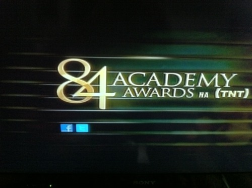 Vinheta do canal TNT no dia da exibição do Oscar 2012. Via Luiz Cruz, do euriumpouco.tumblr.com