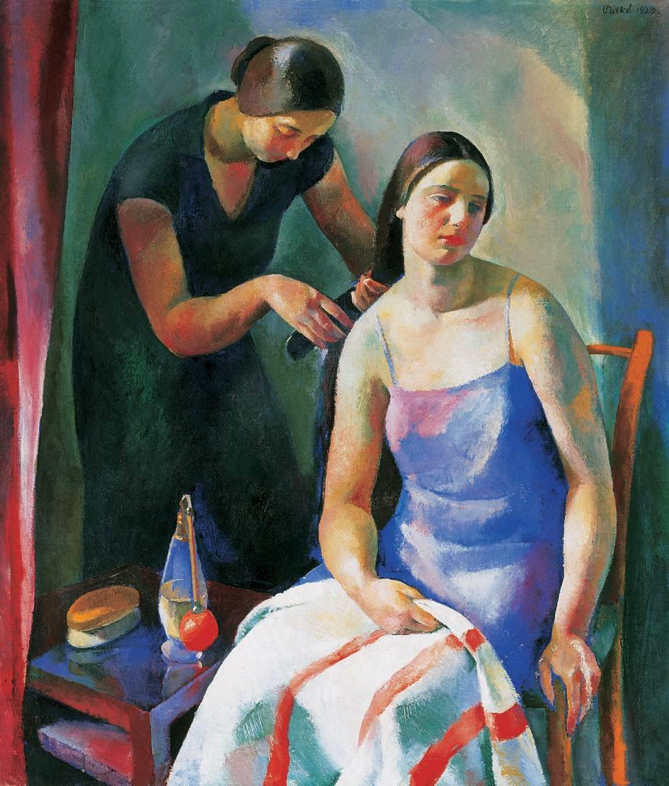 peira:  Károly Patkó:  Before the Bath (1929) via Wikimedia