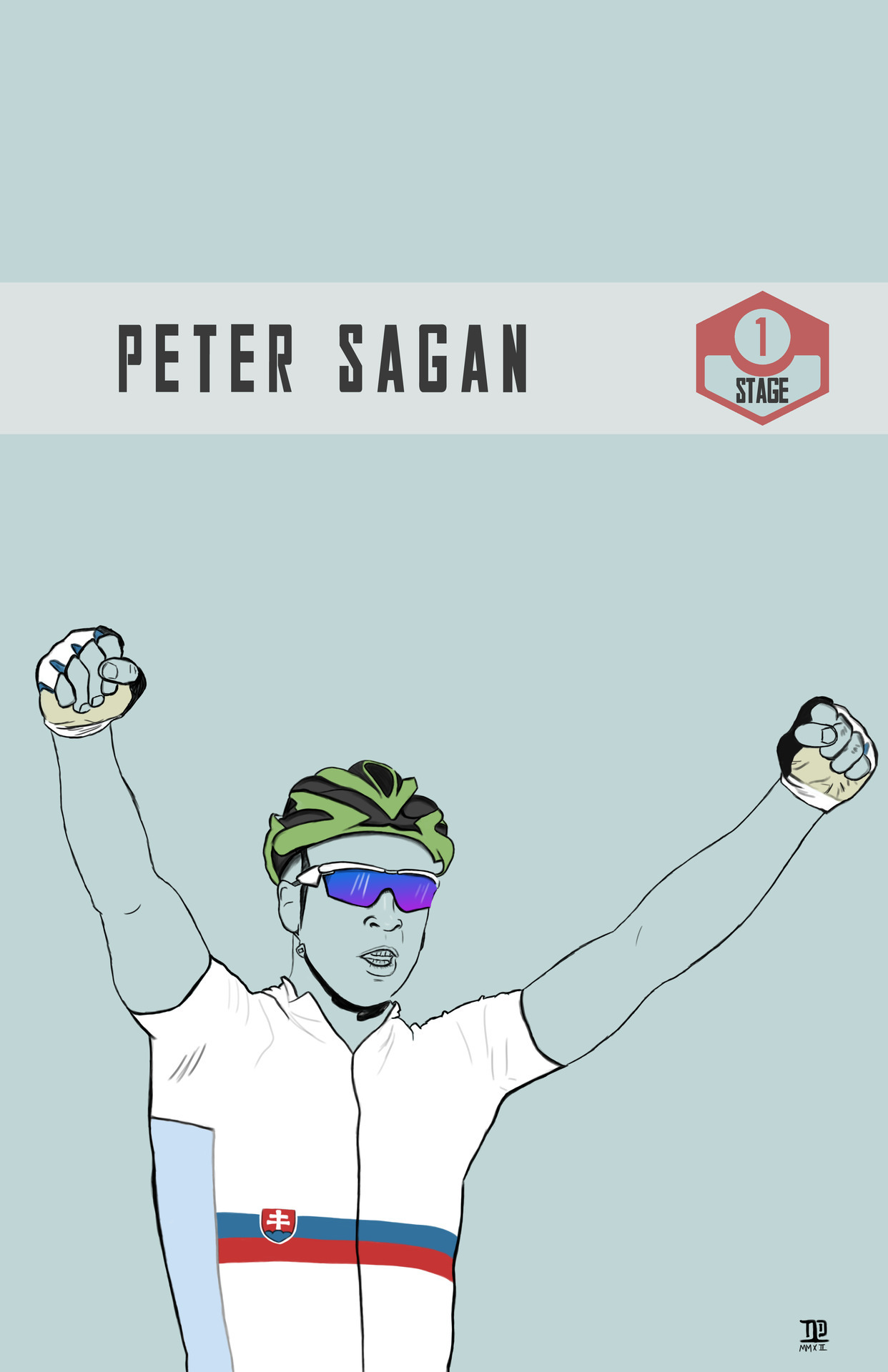lastpolkadesign:  Tour de France: Stage 1 winner, Peter Sagan  ©nathandallesasse   Amazing illustrations from each stage winner by ©nathandallesasse #tdf