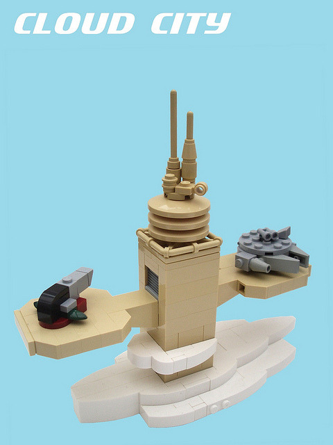 Micro Star Wars: Cloud City Landing Pad by 2 Much Caffeine on Flickr.