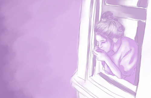 And as she stared thought the window, memories of a better time passed by… But going back wasn't an option