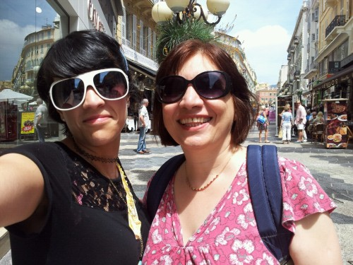 me and the mum hanging in super hot nice, france