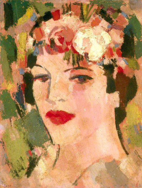 alongtimealone:  Fergusson, John Duncan (Scottish, 1874-1961) - Portrait of Eileen - 1941 (by *Huismus)